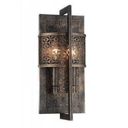 "16"" 2 Light Wall Sconce with Golden Bronze finish"