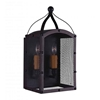 """Picture of 16"""" 2 Light Wall Sconce with Reddish Black finish"""