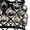 "Picture of 16"" 3 Light  Chandelier with Black finish"