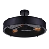 "Picture of 16"" 3 Light Drum Shade Flush Mount with Black finish"