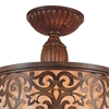 "Picture of 16"" 3 Light Drum Shade Flush Mount with Brushed Chocolate finish"