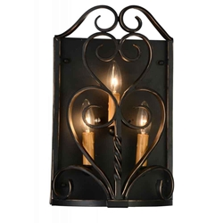"""16"""" 3 Light Wall Sconce with Autumn Bronze finish"""