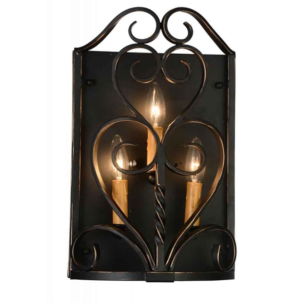 "Picture of 16"" 3 Light Wall Sconce with Autumn Bronze finish"