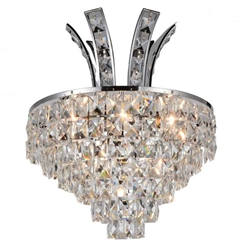 """16"""" 3 Light Wall Sconce with Chrome finish"""