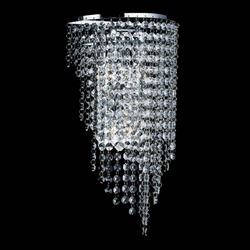 "16"" 3 Light Wall Sconce with Chrome finish"