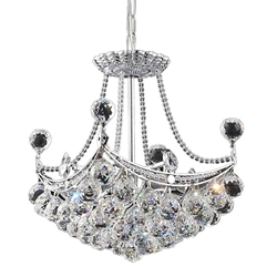 "16"" 4 Light  Mini Chandelier with Chrome finish"