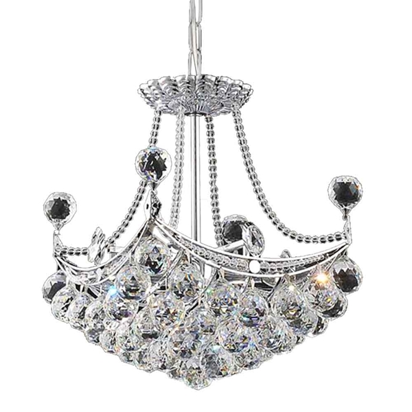 "Picture of 16"" 4 Light  Mini Chandelier with Chrome finish"