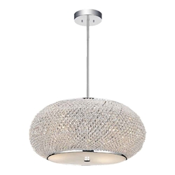 """16"""" 4 Light Down Chandelier with Chrome finish"""
