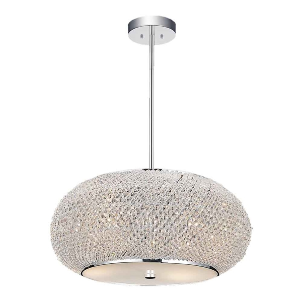 """Picture of 16"""" 4 Light Down Chandelier with Chrome finish"""