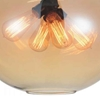 "Picture of 16"" 4 Light Down Pendant with Transparent Amber finish"