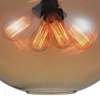 "Picture of 16"" 4 Light Down Pendant with Transparent Cognac finish"