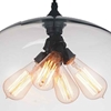 "Picture of 16"" 4 Light Down Pendant with Transparent finish"