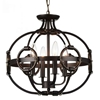 "Picture of 16"" 4 Light Up Chandelier with Brushed Golden Brown finish"