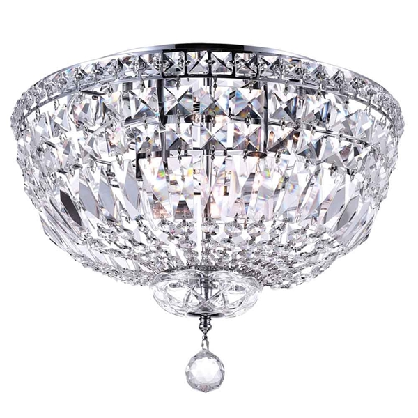 """Picture of 16"""" 5 Light Bowl Flush Mount with Chrome finish"""