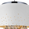 "Picture of 16"" 5 Light Drum Shade Chandelier with White finish"