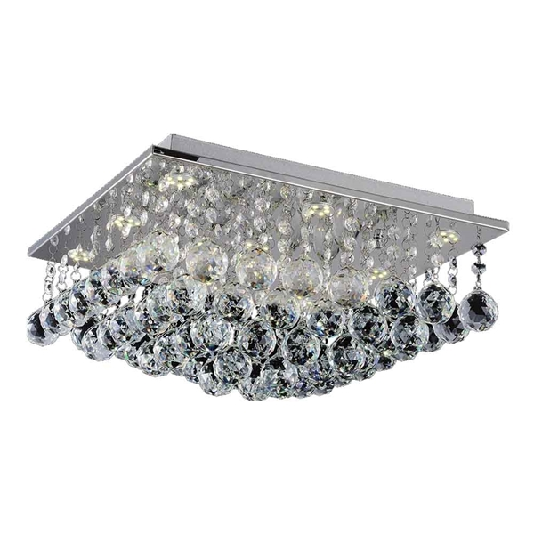 "Picture of 16"" 6 Light  Flush Mount with Chrome finish"