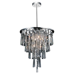 """16"""" 6 Light Down Chandelier with Chrome finish"""
