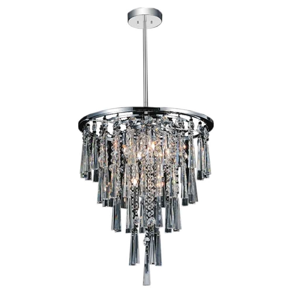 "Picture of 16"" 6 Light Down Chandelier with Chrome finish"