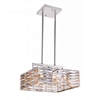 """Picture of 16"""" 8 Light Down Chandelier with Bright Nickel finish"""
