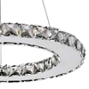 "Picture of 16"" Anelli Modern Crystal Round Pendant Polished Chrome 15 LED Lights"