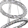 "Picture of 16"" Anelli Modern Crystal Round Triple Ring Chandelier Polished Chrome 54 LED Lights"