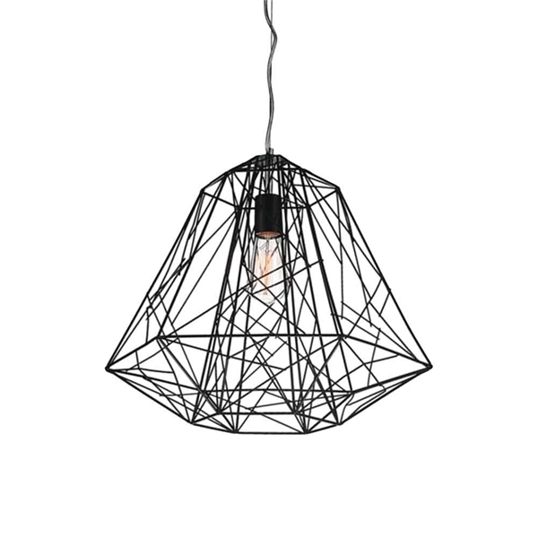 """Picture of 16"""" Baghera Industrial Pendant Black 1 Light"""