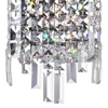 """Picture of 16"""" Bossolo Transitional Crystal Rectangular Square Wall Sconce Polished Chrome 4 Lights"""