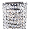 "Picture of 16"" Bossolo Transitional Crystal Round Wall Sconce Polished Chrome 4 Lights"