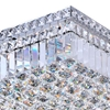 "Picture of 16"" Bossolo Transitional Crystal Square Flush Mount Chandelier Polished Chrome 5 Lights"