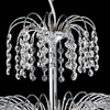 """Picture of 16"""" Fountain Crystal Round Chandelier Chrome / Gold 8 Lights"""