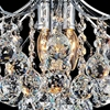 """Picture of 16"""" Monarch Crystal Flush Mount Round Chandelier Chrome / Gold 4 Lights"""