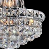 """Picture of 16"""" Primo Transitional Crystal Round Chandelier Chrome / Gold 6 Lights"""