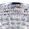 "Picture of 16"" Primo Transitional Round Crystal Flush Mount Ceiling Chandelier Polished Chrome 4 Lights"