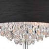 """Picture of 16"""" Struttura Modern Crystal Round Floor Lamp Double Shade Black Fabric 4 Lights"""
