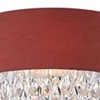 "Picture of 16"" Struttura Modern Crystal Round Floor Lamp Double Shade Wine Red Fabric 4 Lights"