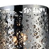 "Picture of 16"" Web Modern Laser Cut Crystal Rectangular (R) Vanity Light Stainless Steel 2 Lights"