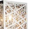 "Picture of 16"" Web Modern Laser Cut Crystal Rectangular (S) Vanity Light Stainless Steel 2 Lights"