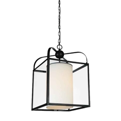 """17"""" 1 Light Candle Mini Pendant with Oil Rubbed Brown finish"""