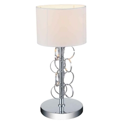 "17"" 1 Light Table Lamp with Chrome finish"