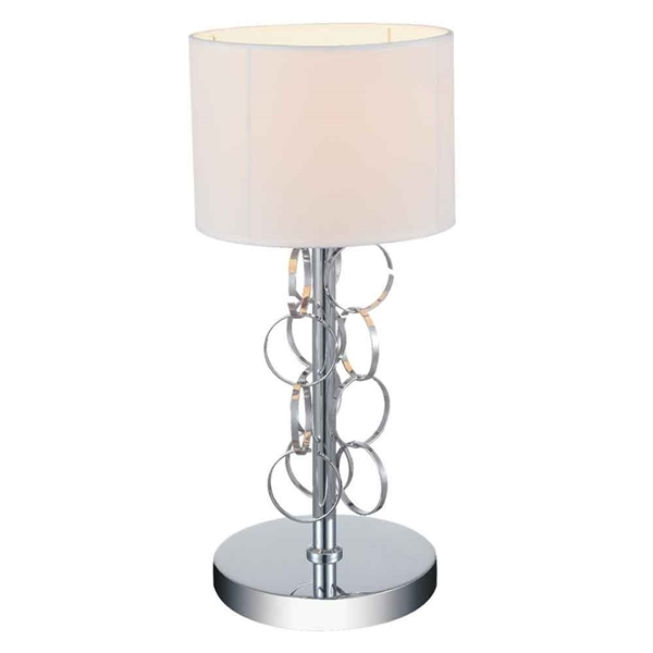 "Picture of 17"" 1 Light Table Lamp with Chrome finish"