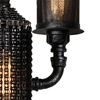 "Picture of 17"" 2 Light Wall Sconce with Gray finish"