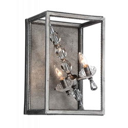 """17"""" 2 Light Wall Sconce with Luxor Silver finish"""