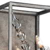 """Picture of 17"""" 2 Light Wall Sconce with Luxor Silver finish"""