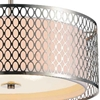 "Picture of 17"" 3 Light Drum Shade Chandelier with Satin Nickel finish"