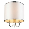 "Picture of 17"" 3 Light Drum Shade Flush Mount with Chrome finish"