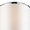 """Picture of 17"""" 3 Light Drum Shade Flush Mount with Chrome finish"""