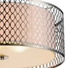 """Picture of 17"""" 3 Light Drum Shade Flush Mount with Satin Nickel finish"""