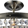 "Picture of 17"" 3 Light Up Chandelier with Antique Brass finish"