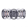 """Picture of 17"""" 3 Light Vanity Light with Gun Metal finish"""