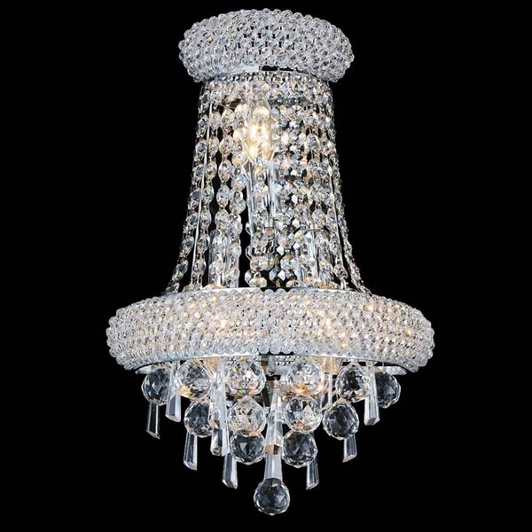 "Picture of 17"" 3 Light Wall Sconce with Chrome finish"